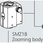 Nikon Testa stereo SMZ18, manual , parallel optics, achromate, Zoom Head, bino, 7.5-135x, click stop, ratio 18:1, 15°