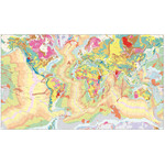UKGE Mapa mundial Geological Map of the World 118cm x 98cm