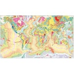 UKGE Mapa świata Geological Map of the World 118cm x 98cm