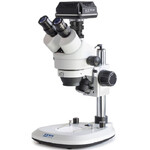 Kern Microscopio OZL 466C832, Greenough, Säule, 7-45x, 10x/20, Auf-Durchlicht, Ringl., 3W LED, Kamera 5MP, USB 3.0