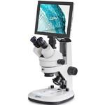 Kern Microscopio OZL 468T241 Greenough, Zahnstange, 7-45x, 10x/20, Auf-Durchlicht, 3W LED, Kamera 5MP, USB 2.0, HDMI, WiFi, Tablet