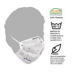 Masketo Máscara facial Corona Borealis em poliéster - 5 peças