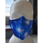 Masketo Mascarilla blanca con motivo astronómico de las Pléyades (1 unidad)
