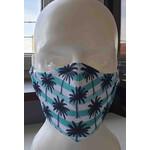 Masketo Máscar facial com a impressão de palmeiras - 5 peças