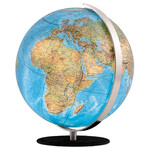 Columbus Globus Duo 30cm OID Lederfuß Nubukleder schwarz