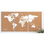 Miss Wood Mapa mundial Puzzle Map M - White