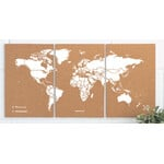 Miss Wood Weltkarte Puzzle Map M - White