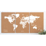 Miss Wood Wereldkaart Puzzle Map M - White