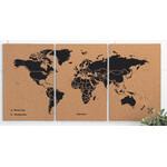 Miss Wood Harta lumii Puzzle Map M - Black