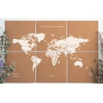 Mappemonde Miss Wood Puzzle Map XL - White
