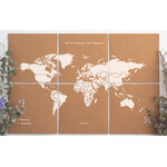 Miss Wood Mapa świata Puzzle Map XL - White