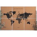 Mappemonde Miss Wood Puzzle Map XL - Black