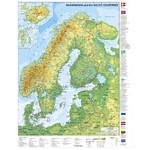 Carte géographique Stiefel Scandinavie et pays baltes