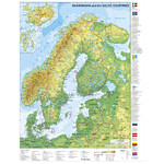 Stiefel Mapa Scandinavia and the Baltic States