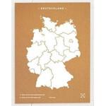 Miss Wood Woody Map Countries Deutschland Cork L white