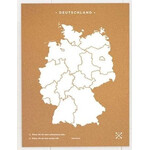 Miss Wood Mappa Woody Map Countries Deutschland Cork XL white