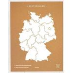 Miss Wood Woody Map Countries Deutschland Cork XL white