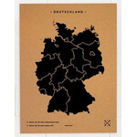 Miss Wood Mapa Woody Map Countries Deutschland Cork XL black