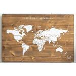 Miss Wood Mappa del Mondo Woody Map Wooden 60x40
