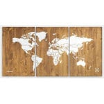 Miss Wood Weltkarte Woody Map Wooden 120x60