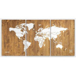 Miss Wood Woody Map Wooden 120x60
