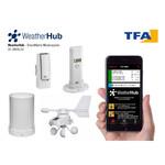 TFA Estação meteorológica sem fio Wetterstation-Set mit Klima, Regen & Windsender WEATHERHUB