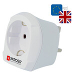 Alimentation électrique Skross Reiseadapter Europe to UK