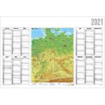 Stiefel Landkarte Jahresplaner 2021 Deutschland physisch