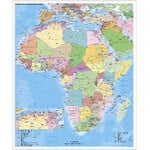 Stiefel Continentkaart Afrika politisch mit PLZ auf Platte zum Pinnen und magnethaftend