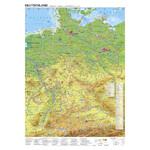 Stiefel Landkarte Deutschland Radfernwege (68x98)