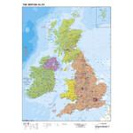 Stiefel Kaart Großbritannien und Irland politisch (68x98)