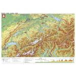 Carte géographique Stiefel Schweiz physisch (98x68)