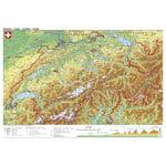 Stiefel Kaart Schweiz physisch (98x68)