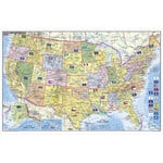 Stiefel Map USA politisch mit PLZ