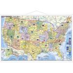 Carte géographique Stiefel USA politisch mit PLZ
