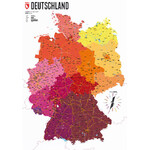 Carte géographique Marmota Maps Deutschland politisch (70x100)