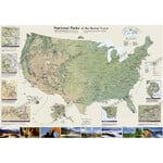 National Geographic Map US National Parks (106x76)