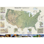 National Geographic Mappa US National Parks (106x76)