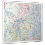 Bacher Verlag Regional-Karte Nordrhein-Westfalen mit Postleitzahlen (152 x 150 cm)