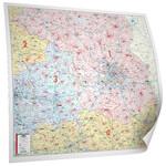Bacher Verlag Regional-Karte Postleitzahlenkarte Brandenburg Berlin (127 x109 cm)
