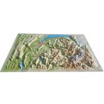 Carte régionale 3Dmap Haute Savoie Version été