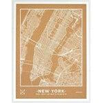 Miss Wood Mapa regionalna Woody Map Natural New York L White