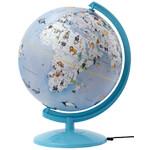 emform Globe Wildlife World Light Blue 25cm