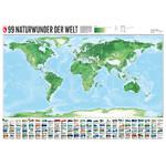 Marmota Maps Weltkarte 99 Naturwunder (200x140)