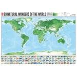 Mappemonde Marmota Maps 99 Natural Wonders (140x100)