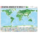Marmota Maps Mappa del Mondo 99 Naturral Wonders (100x70)