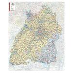 Kastanea Regional-Karte Postleitzahlenkarte Baden-Württemberg (99 x 122 cm)