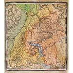 Kastanea Regional-Karte Historische Baden-Württembergkarte von 1910 (85 x 96 cm)