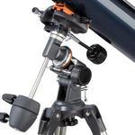 Montaż z mocowaniem teleskopu