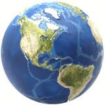 AstroReality Reliefglobus EARTH (Neuwertig)